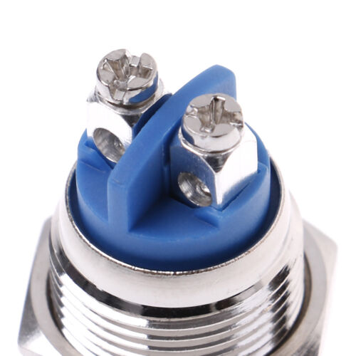 1Pc 16mm waterproof momentary metal push button switch round switches H$