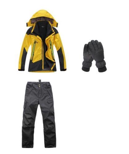D30 Women Pink Ski Snowboard Winter Waterproof Jacket Pants Gloves 6 8 10 12 14