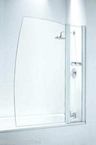 Coram Frameless VELA doccia bathscreen cromo o bianco schermo da bagno