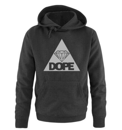 Bianco e Nero II Diamond Dope Triangolo Felpa con Cappuccio da Uomo