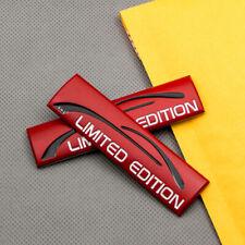 2x New Red Metal Limited Edition Emblem Sport Racing Suv Badge Sticker Fits Jaguar