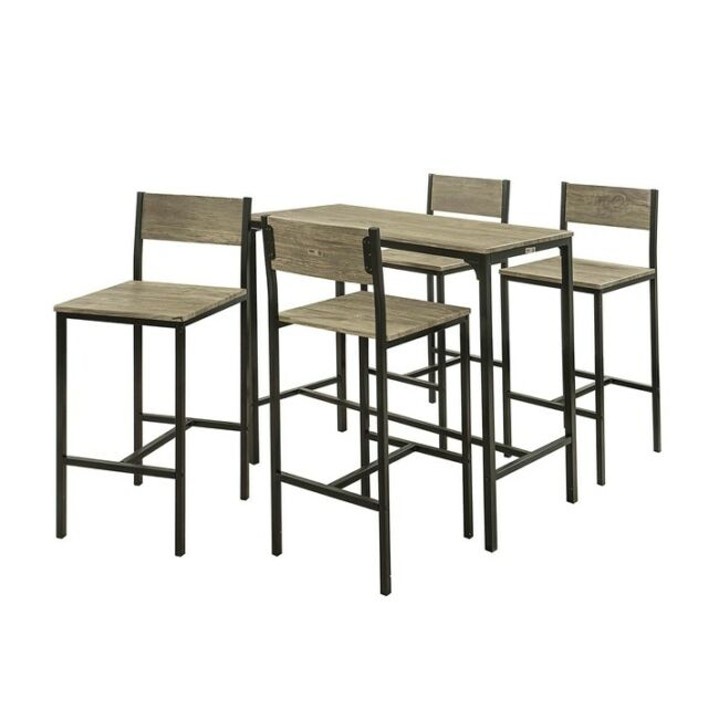 So Set Of 4 Stools Dining Bar Bistro Breakfast Table Chairs Ogt14