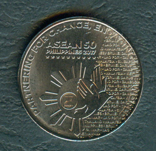 2017 ASEAN Association of SouthEast Asian Nation 1 Piso Philippine Coin