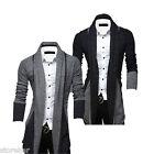 New Fashion Men's Stylish Slim Fit Knit V-Neck Cardigan Long Sweater Coat Jacket