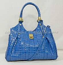 NWT! Brahmin Elisa Satchel/Shoulder Bag in Surf La Scala. Blue Color MSRP $375