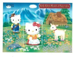Guyana 2001 - Hello Kitty - Heidi -  Stamp Souvenir Sheet - MNH