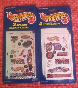 Toys & Hobbies Useful Hot Wheels Extreme Racing Stickers 2 Sparkle Sheets & 4 Stickers Sheets mattel To Clear Out Annoyance And Quench Thirst