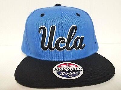 Adjustable Black//Team Color NCAA Zephyr Ucla Bruins Mens Z11 Static Snapback Hat