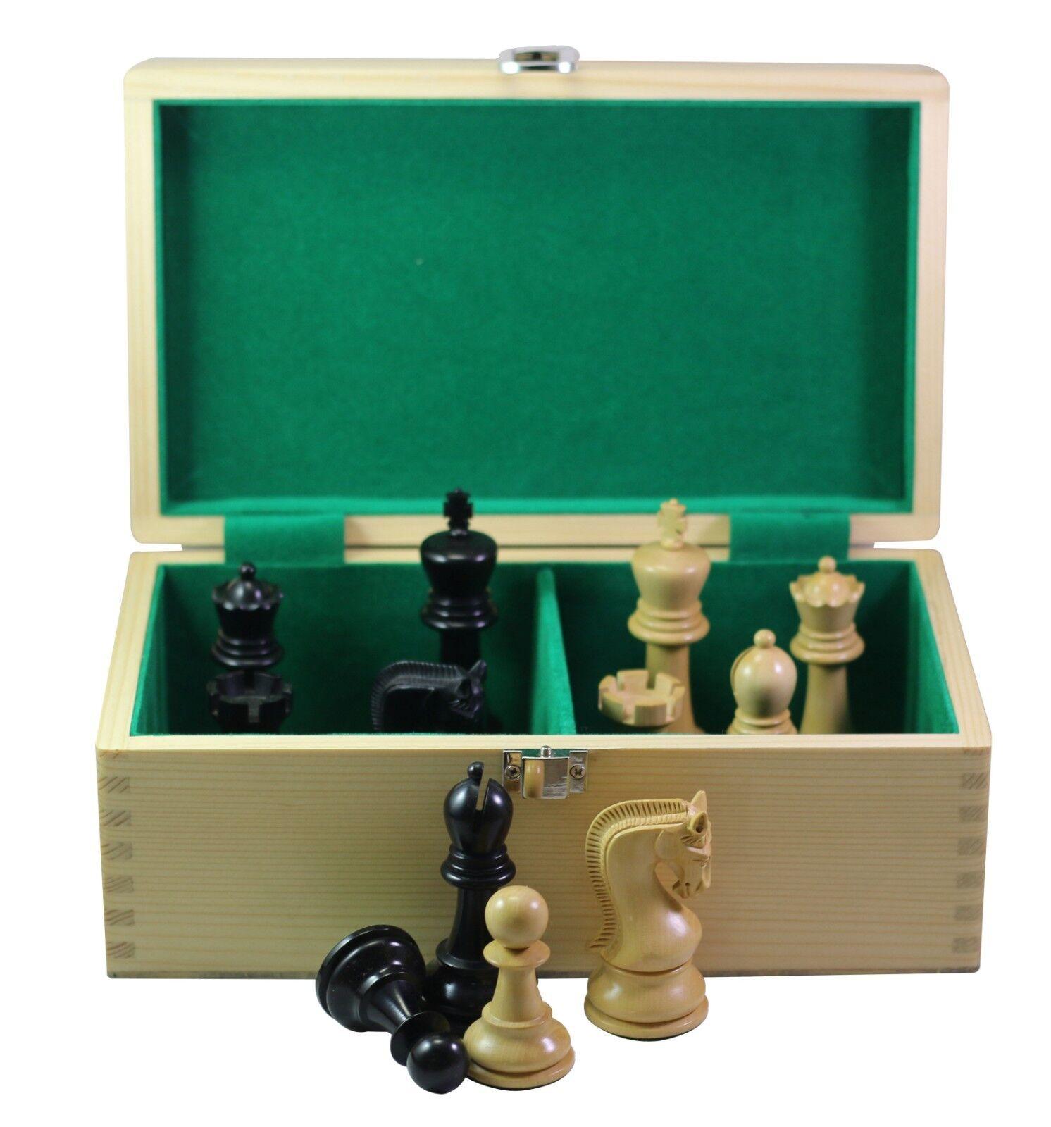 LENINGRADE Staunton 4   Ebonised et Boîte en Bois Pièces d'échecs avec Boîte de rangeHommest  vente en ligne