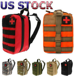 Tactical First Aid Kit Pouch Survival Molle Rip Away EMT Medic IFAK Storage Bag