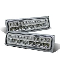 Cg Chevy Full Size/blazer/suburban/sierra/yukon 88-98 Park Led Lights Chrome Set