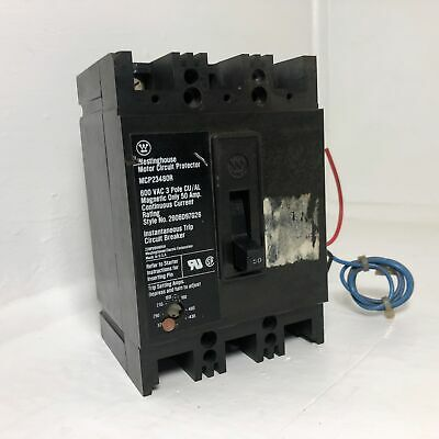 Westinghouse MCP23480R 50 AMP MOTOR CIRCUIT PROTECTOR WARRANTY