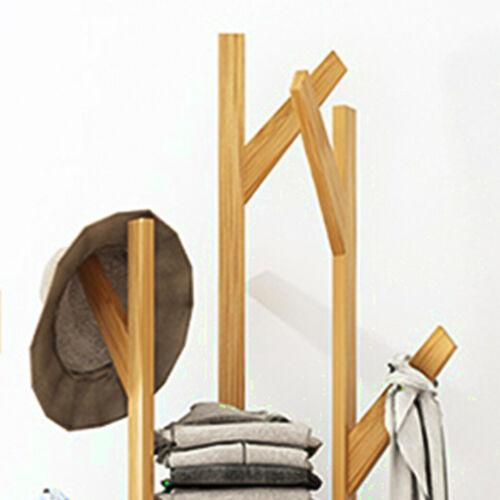 Kleiderständer Garderobenständer Kleiderstange Garderobe mit 3 Etagen Bambus NEU