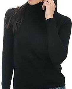 L Nero Cashmere polsini donna senza Rollover Balldiri da Pullover 100 pqWwPH