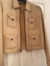 Polo Ralph Lauren Suede Leather Jacket UK 6 Fits Size 8 Muubaa All Saints Zara