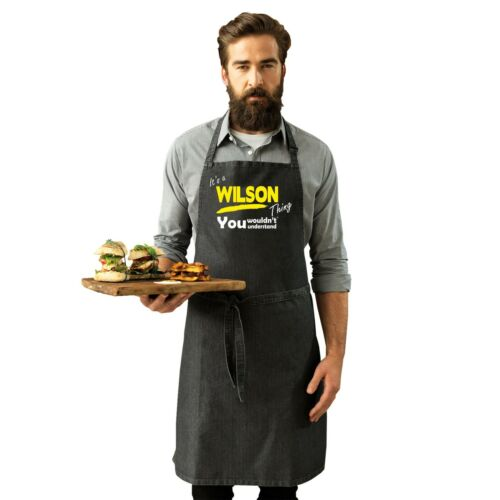 Its a WILSON Thing Funny Joke Surname Family Adult Kitchen Cooking PREMIER APRON