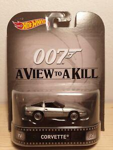 HOT WHEELS Chevrolet Corvette 1985 Chevy James Bond 007 Retro Entertainment 1/64
