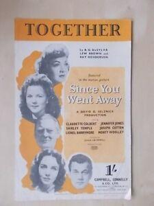 Aimable Vintage Sheet Music-ensemble-depuis Que Tu Es Parti-afficher Le Titre D'origine Rendre Les Choses Pratiques Pour Les Clients