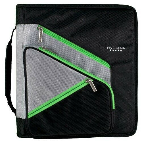 Five Star 3 Ring Binder 1.5 Inch W/Zipper Pocket For Sale