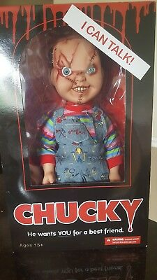 "Mezco Toyz Mega Talking Scarred Child/'s Play Chucky 15/"" Good Guy Doll Figure NEW"
