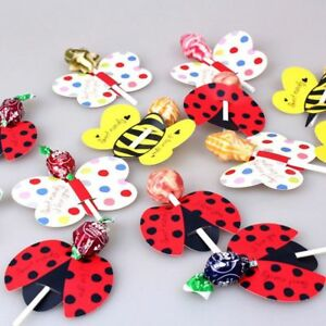 50PCS-Insect-Bees-Ladybug-Butterfly-Lollipop-Decoration-Card-Birthday-Party-t