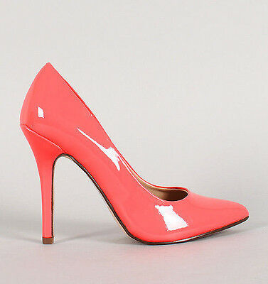 Womens Classic High Heel Pointy Toe Dress Pumps Shoes Fashion Stilletto Patent