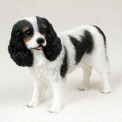 Cavalier King Charles Hand Painted Collectible Dog Figurine Statue