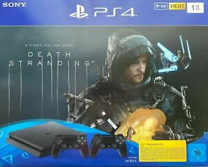 Sony-Playstation-4-Slim-1TB-schwarz-PS-4-Spielkonsole-PS4-Spiel-Death-Stranding