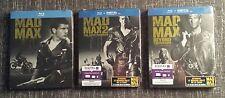 Mad Max 1, 2, 3 * Blu ray * 3 x Limited STEELBOOK * Mel Gibson *Trilogy*Trilogie