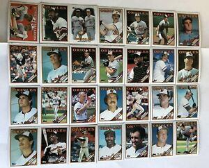 1988-BALTIMORE-ORIOLES-Topps-COMPLETE-Baseball-Team-Set-28-Cards-RIPKEN-MURRAY