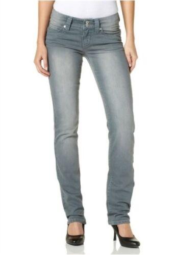 4Wards Jeans NEU Lang-Gr.76-80 Damen Stretch Hose Grau Vintage Stone Denim L34