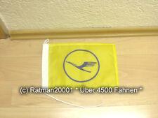 Fahnen Flagge Lufthansa Gelb Tischwimpel - 15 x 25 cm