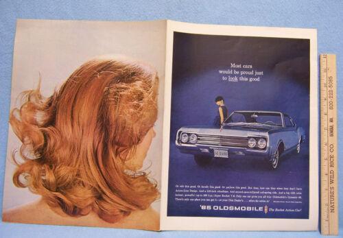Vintage 1965 Magazine Ad for Oldsmobile Dynamic 88 With Action-Line Design