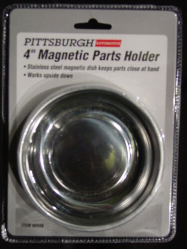 """4/"""" ROUND STAINLESS STEEL MAGNETIC PARTS SCREWS DISH HOLDER HOLDING PAN TRAY BOWL"""