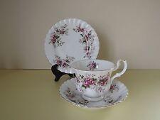 Vintage Royal Albert Lavender Rose Cup Saucer & Side Plate Trio (L67)