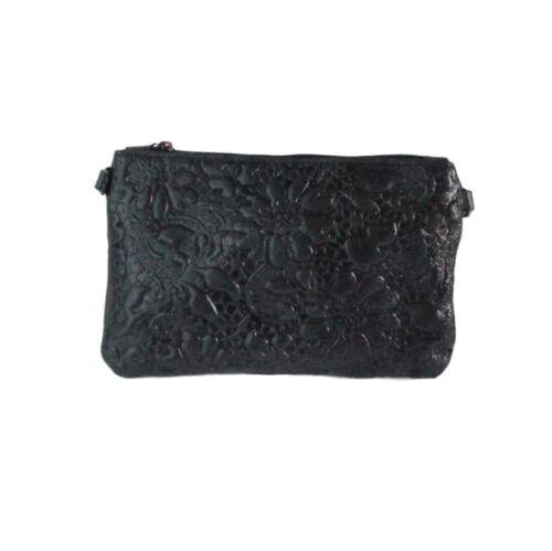 italiano Bolso de cuero de Negro lujo Kisha EzzHg