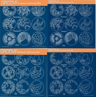 Clarity Stamp Groovi Parchment Embossing A5 Square Linda/'s Roses /& Lace