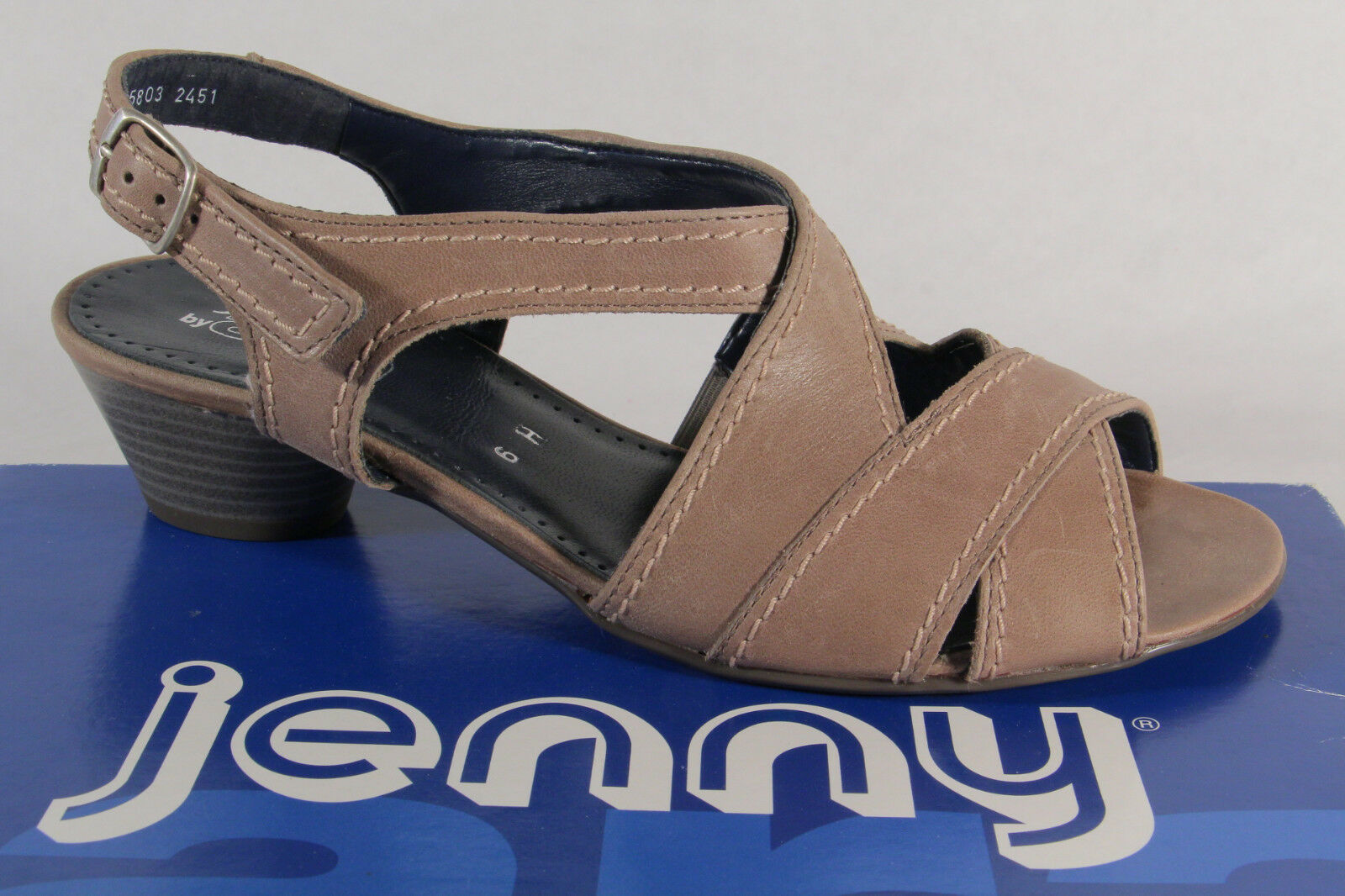Jenny by Ara Sandals Sneakers Sling Real Leather Grey New