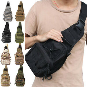 Men Outdoor Tactical Backpack Molle Chest Bag Assault Pack for Hiking Travel
