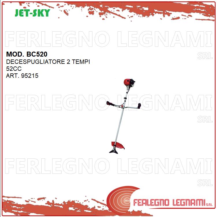 DECESPUGLIATORE 2 TEMPI 52CC MOD. BC520 JET-SKY ART. 95215