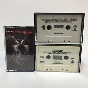 Cassette-Tape-Lot-The-Best-of-Metal-Blade-Volume-3-Masters-of-Metal-1-Metalmania