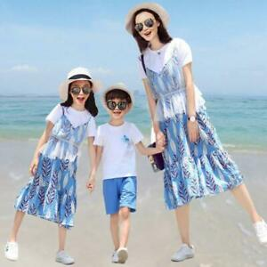 Family Matching Parent-child Clothes Father Mother and Daughter Son Dress Sets