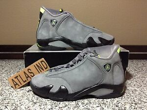e43b220ecb17 AIR JORDAN 14 RETRO Graphite Chartreuse Nike XIV 1 3 4 5 6 7 11 ...