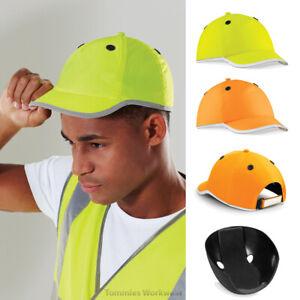 Beechfield Enhanced-Viz EN812 Bump Cap Hi Vis Headwear Protection