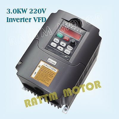【EU Stock】3KW 220V/4HP/13A Inverter VFD Variable Frequency Drive For CNC Machine