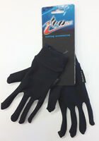 Super Roubaix Cycling Liner Gloves In Black. Made In Italy By Teosport