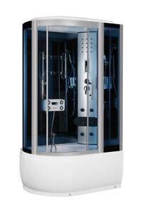 duschkabine badewanne regendusche dusche 120x80 duschtempel mit sitz und led ebay. Black Bedroom Furniture Sets. Home Design Ideas