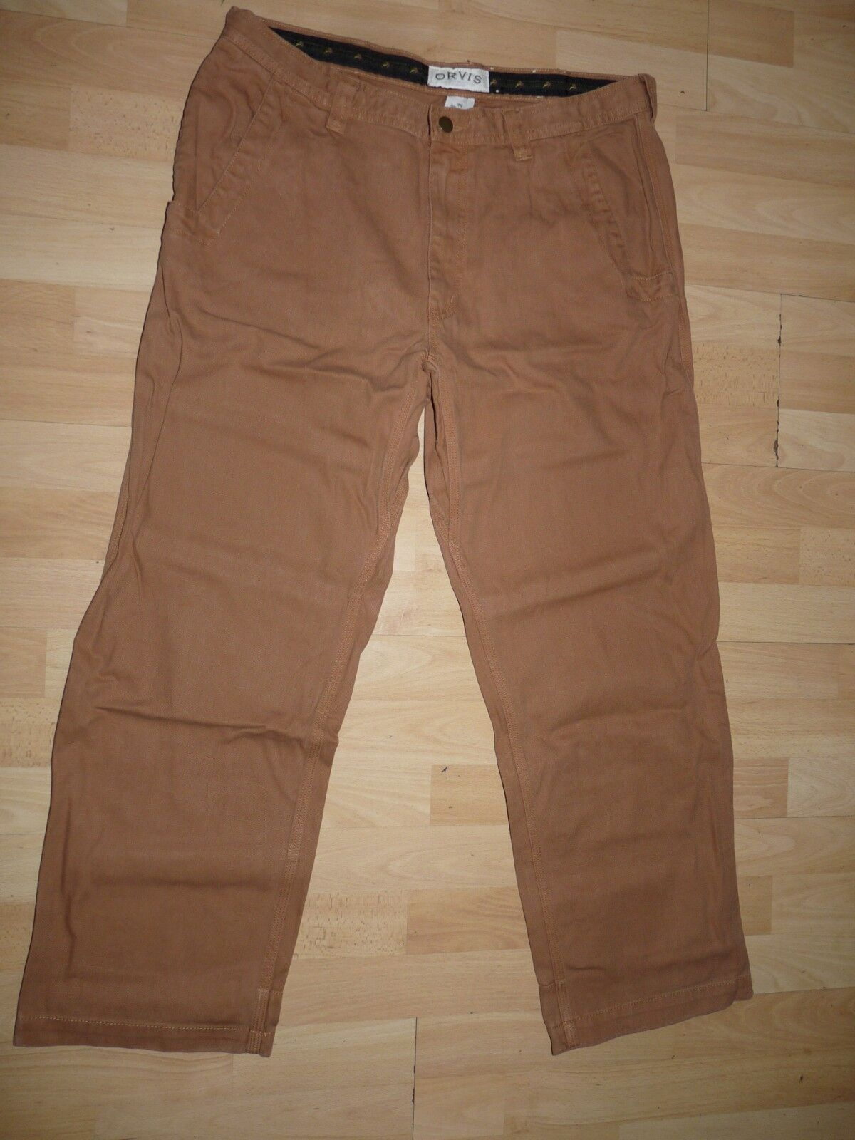 Authentic ORVIS NAVAJO canvas casual brown pants men's hunters trousers W36 (029