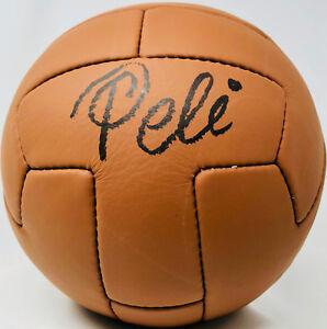 b0f50521196 Pele Autographed Vintage Soccer Ball Brazil Signed - PSA DNA ITP COA ...