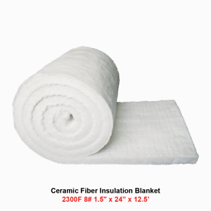 "1//2/"" Ceramic Fiber Insulation Blanket 2300F 8# High Temp Insulation 12/"" x 24/"""